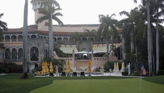 This April 15, 2017, file photo shows President Donald Trump's Mar-a-Lago estate in Palm Beach, Florida. Two House Democrats want to compel the Air Force to detail how much has been spent on trips that President Donald Trump has made to his Florida estate and other properties he and his family own.