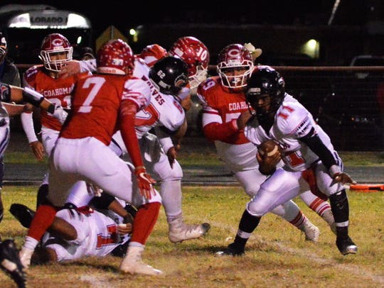Colorado City's Markis Monroe looks for running room