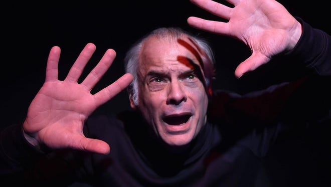 "Alan Kopischke shown in the Third Avenue Playhouse production of ""Jacob Marley's Christmas Carol,"" returns for another one-man show at TAP in ""The Absolute Brightness of Leonard Pelkey"" from May 16 to June 9."