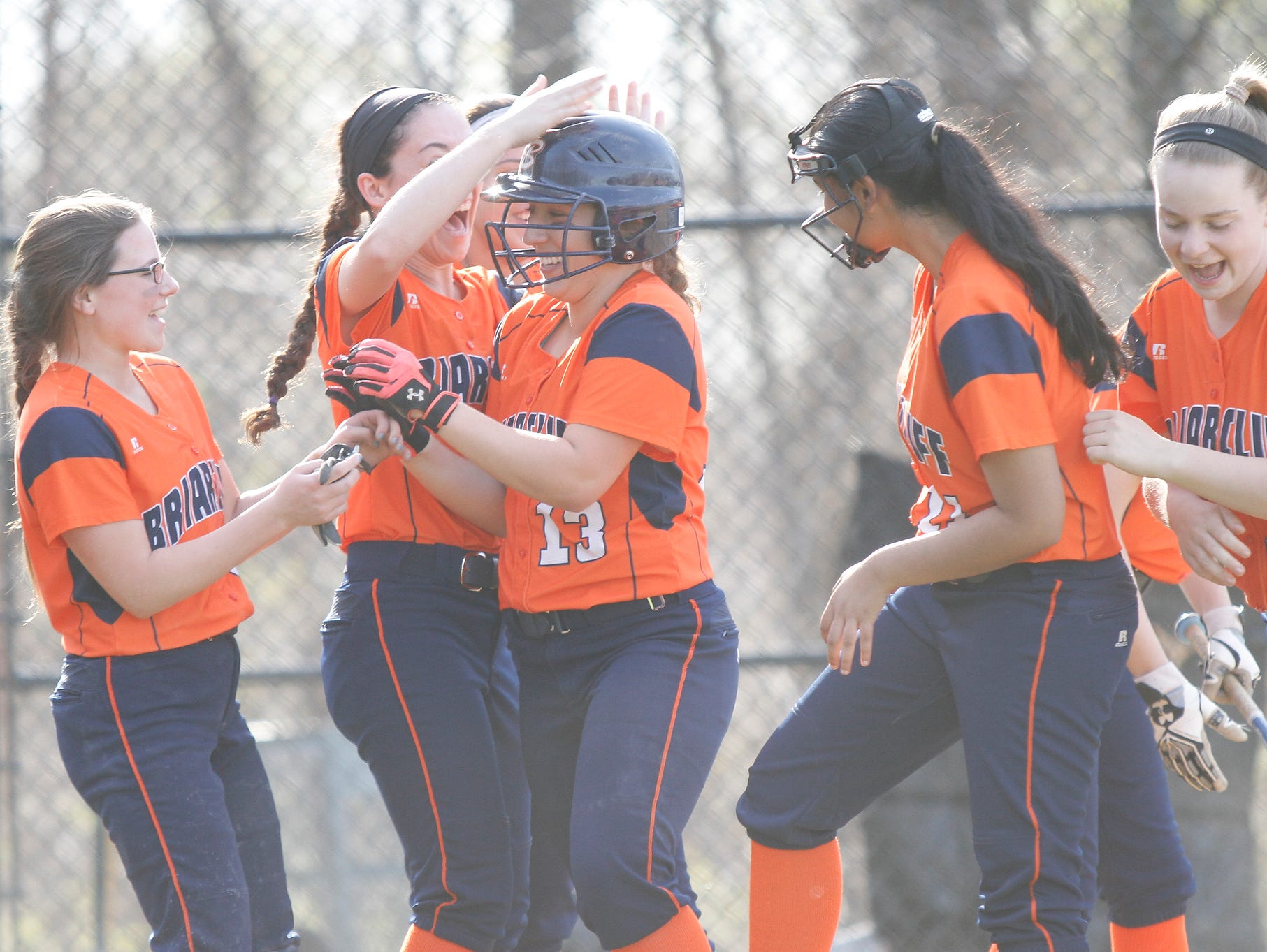 Westlake tops Briarcliff 14-7 in a softball game at Westlake High School on Thursday, April 21, 2016.