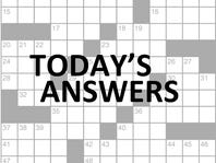 Today's crossword puzzle answers today.