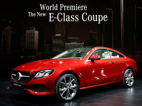 The new Mercedes E-Class Coupe on the floor at the