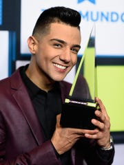 Luis Coronel won the award for favorite regional Mexican male artist at Telemundo's Latin American Music Awards on Oct. 8, 2015, in Los Angeles.