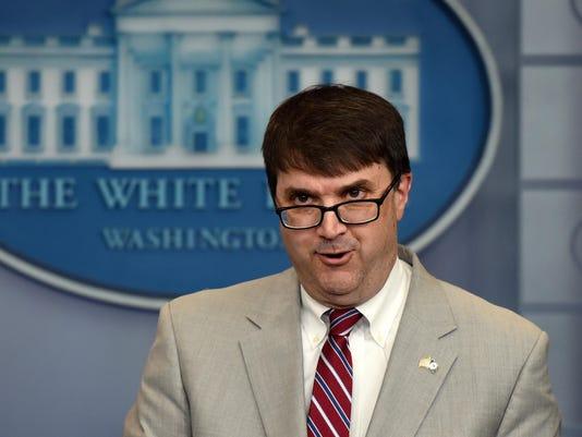 Veterans Affairs Secretary Robert Wilkie speaks during a press briefing - DC