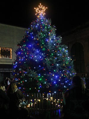 Crowds father at Mainstreet Waynesboro's 2013 Lighting Ceremony. This yeat's tree lighting ceremony will begin at 6:30 p.m., Nov. 20.