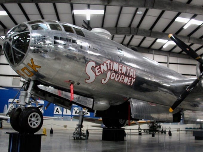 This B-29, christened Sentimental Journey, flew 21