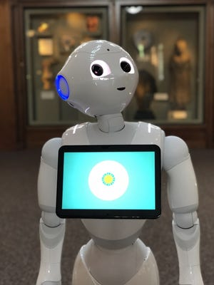"Some Smithsonian museums are adding humanoid robots named ""Pepper"" to their staff."