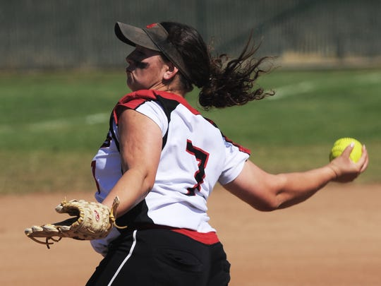 Alicia Estrada of Rio Mesa is one of the many ace pitchers on the county who could have led her team to a CIF-SS title.