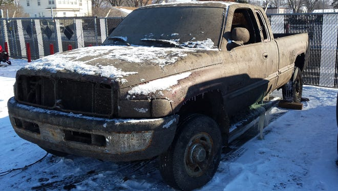 The truck that was pulled from Mayhew Lake.