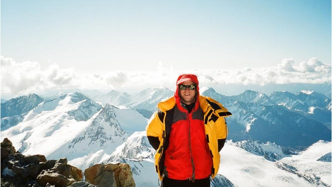 Andy Land on the summit of Mt. Aconcagua (22,842 feet tall) in Argentina, February of 2011.