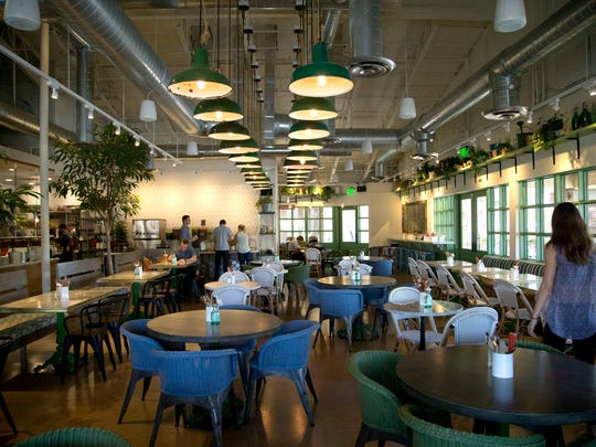 At Fox Restaurant Concept's Flower Child restaurant, customers can listen to a playlist highlighted by 1960s songs and contemporary music with a 1960s flavor.