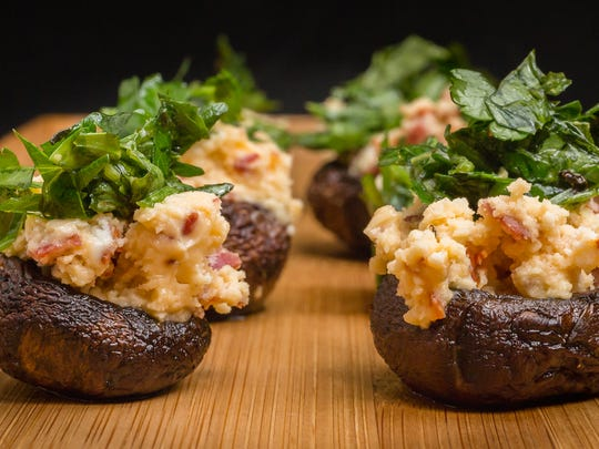 Try these two-bite stuffed mushroom treats.