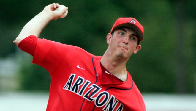 Arizona's Nathan Bannister logged 14 innings in last weekend's Lafayette Regional.