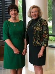 Michigan State University Trustees Dianne Byrum, left