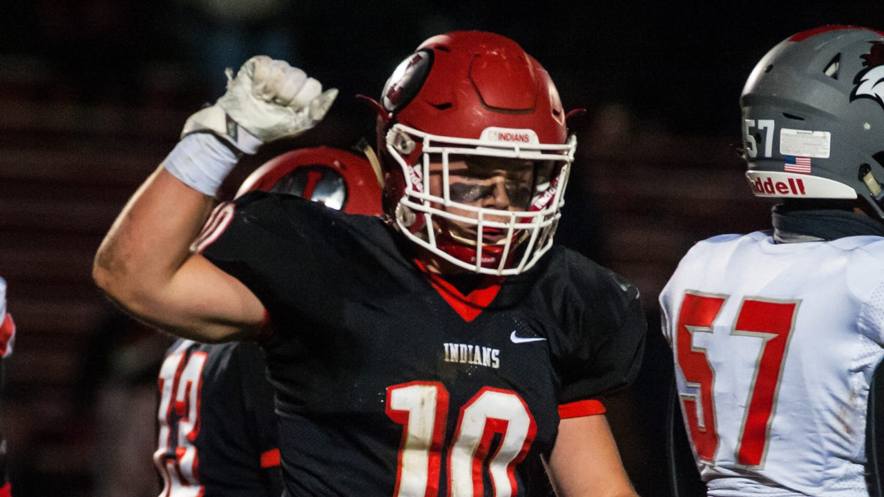 Lenape linebacker Mike Galaida is the Courier Post Defensive Player of the Year