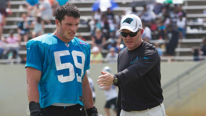 New Buffalo Bills head coach Sean McDermott relied on middle linebacker Luke Kuechly to be one of his big playmakers with the Carolina Panthers the last few years.