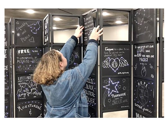 Womens convention Dream Wall installation