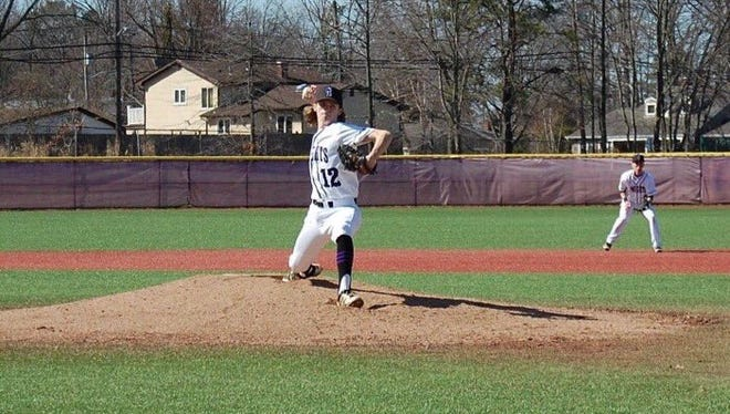 Old Bridge's Paul Tannucilli pitches in a game against Morristown earlier this year.