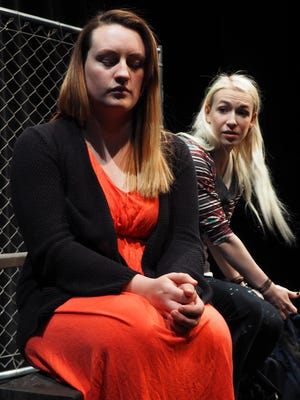 After reading something she didn't like, Maribel, left, played by Cierra Glaeser, turns a cold shoulder to her friend Laney, played by Kylie Lorraine.