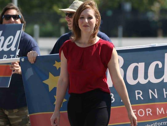 Congressional candidate Rachel Barnhart shown here