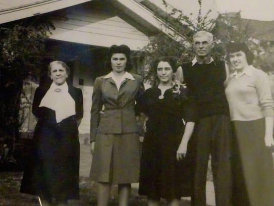 Josephine Earp, far left, in 1943. Although she claimed