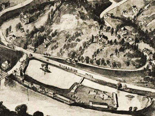 This detail from a 1912 bird's-eye view depiction of