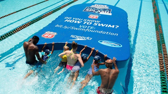 AP USA SWIMMING FOUNDATION SETS GUINNESS WORLD RECORDS® FOR LARGEST KICKBOARD TO KICK OFF THE 10TH ANNUAL MAKE A SPLASH TOUR PRESENTED BY PHILLIPS 66 A CPACOM USA DC