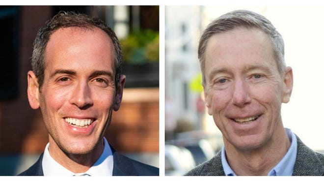 Dr. Robbie Goldstein, left, and Congressman Stephen Lynch are running for a U.S. House of Representatives seat representing Massachusetts's 8th congressional district.