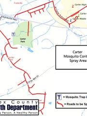 Carter mosquito control spray area