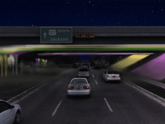 This is a rendering of what a LED light display could