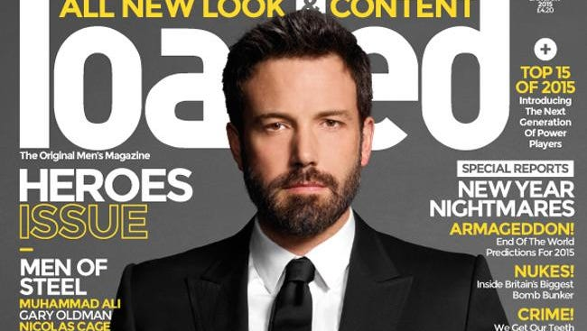 Ben Affleck on cover Loaded magazine