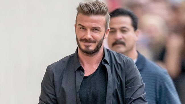 David Beckham arriving at Jimmy Kimmel Live