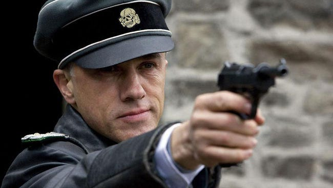 "Christoph Waltz in a scene from ""Inglourious Basterds"" (2009)."