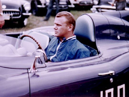 Jerry Earl in the unique SR-2 Corvette race car.
