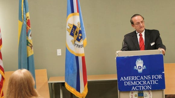 Tom Gordon speaks at a the Americans for Democratic Action