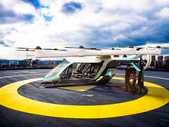 "On Tuesday Embraer X, an Embraer offshoot based at the Orlando Melbourne International Airport, unnveiled concept images of its first electrical Vertical Take-Off and Landing , or ""eVTOL"" aircraft concept."