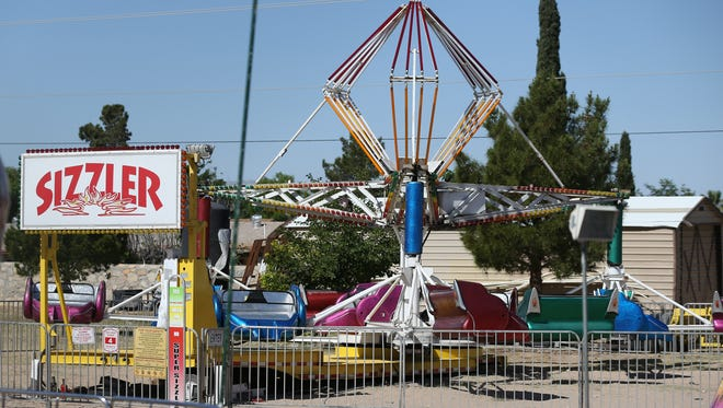 The Sizzler carnival ride set up on a lot next to St. Thomas Aquinas Catholic Church was the site of a fatal accident April 29 in which Hanks High School student Samantha Aguilar died after being ejected from the ride.