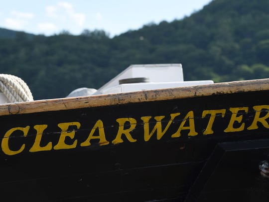 The sloop Clearwater, pictured while docked in Cold Spring.