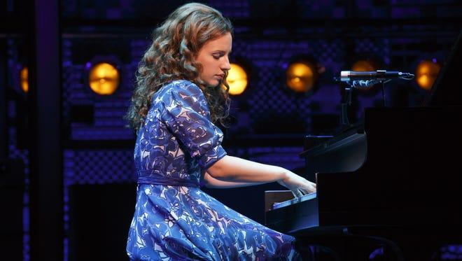 Jessie Mueller as Carole King in 'Beautiful' on Broadway at the Stephen Sondheim Theatre.