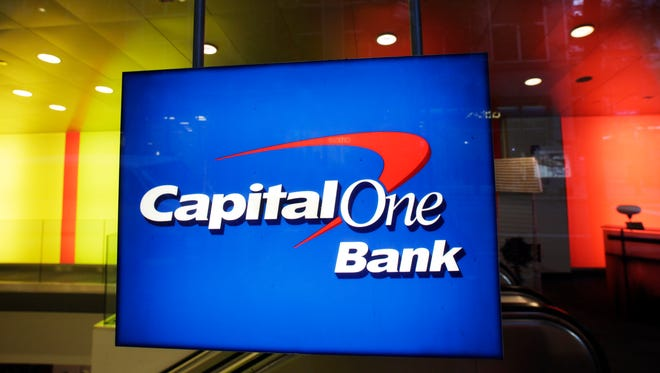 A Capital One Bank office in New York.