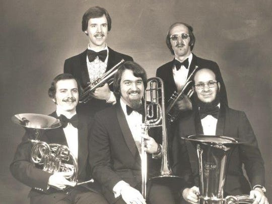From left: Steve Burg,  John Winkler, Mike Dietz, Doug Winemiller and Sy Brandon are the original members of the Keystone Brass Quintet. The group celebrates its 40th anniversary this year.