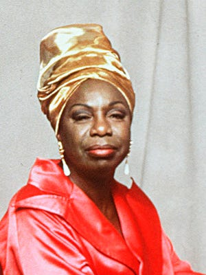 Nina Simone is shown in this 1993 handout file photo. Simone, the jazz great whose rapsy, forceful voice helped define the civil rights movement, died Monday, April 21, 2003, at her home in France, according to her U.S. booking agent. She was 70.