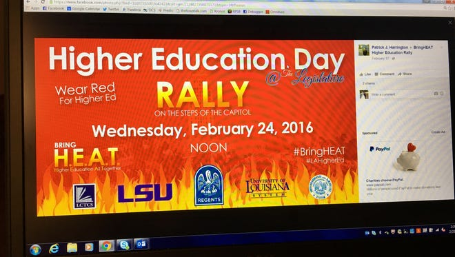 Louisiana college students are expected to rally in large numbers Wednesday in Baton Rouge in an effort to save higher education.