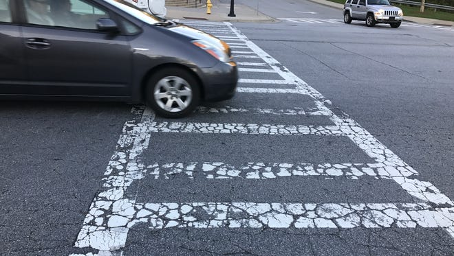 The city of Asheville plans to repave Schenck Parkway in Biltmore Park Town Square next spring.