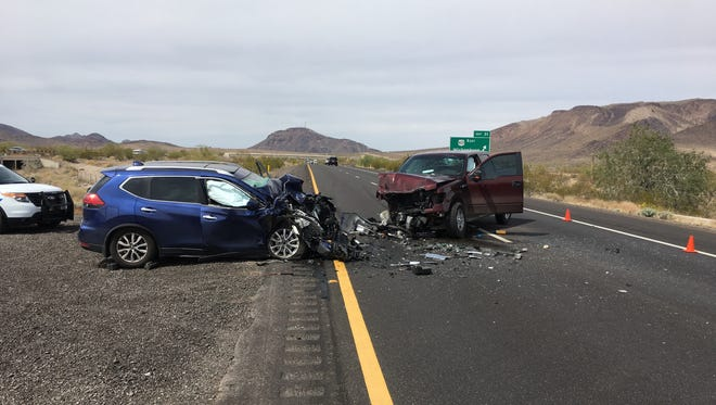 Threepeople are dead following awrong-way driver crashon Interstate 10 near Quartzsite on March 24, 2018.