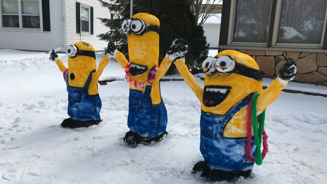 The minions have landed in West Allis, thanks to come hard-packing unseasonable April snow and hardworking residents near 109th and Cleveland.