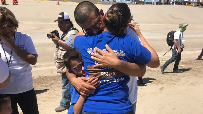 Nancy Murillo reunited with her husband Ivan Martinez, who was deported to Juarez six months ago. Murillo is hopeful her daughter can apply for her father's citizenship.