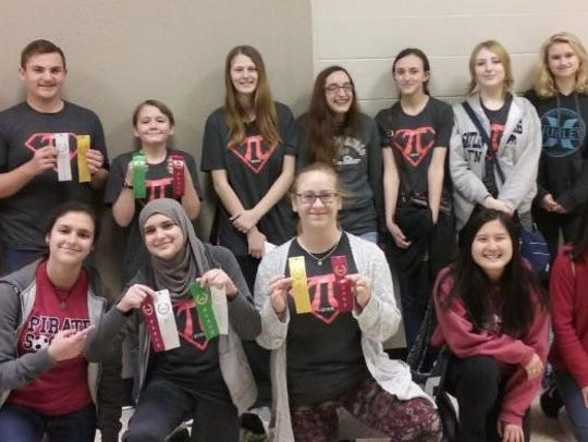 The Branson math team recently competed