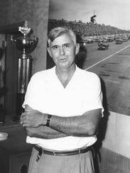Darlington Speedway founder Harold Brasington poses