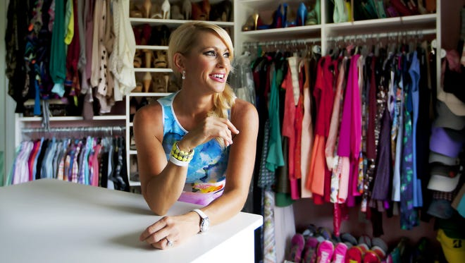 Brittany Cohill's closet is packed with glam fashions.